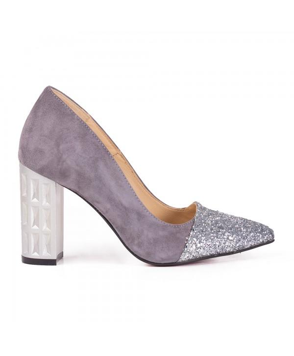 Pantofi eleganti gri 2016