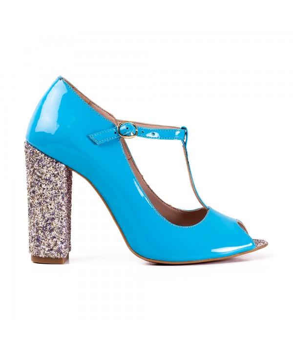 Pantofi eleganti albastri 2022-G