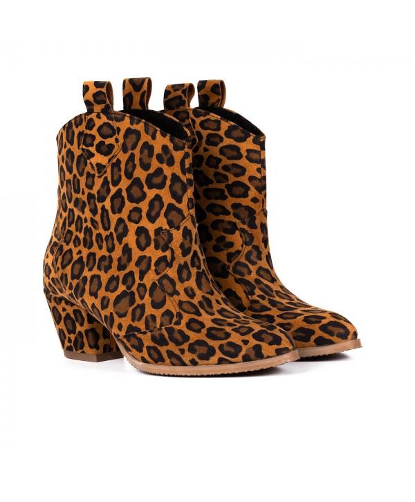 Botine piele leopard 2026