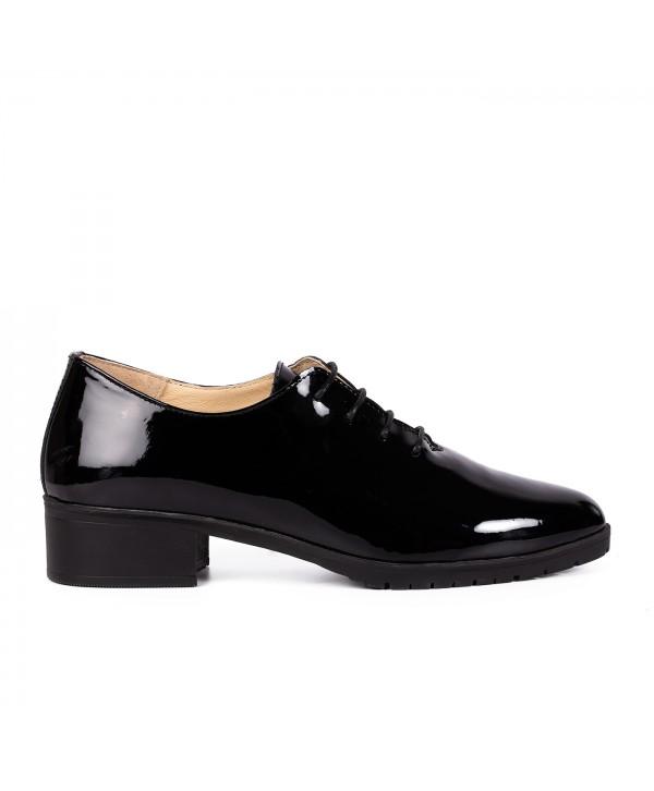 Pantofi eleganti negrii lac 2031