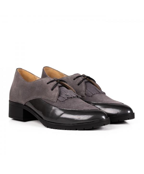Pantofi eleganti gri 2031