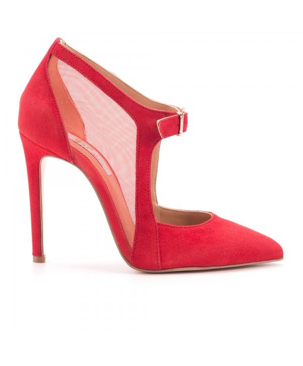 Pantofi eleganti stiletto rosii 1728