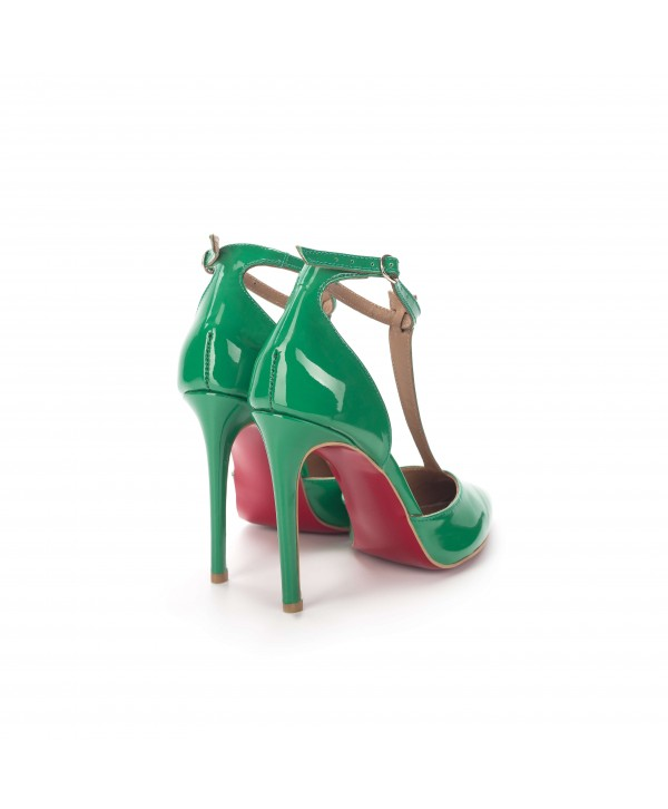 Pantofi eleganti verzi 3003