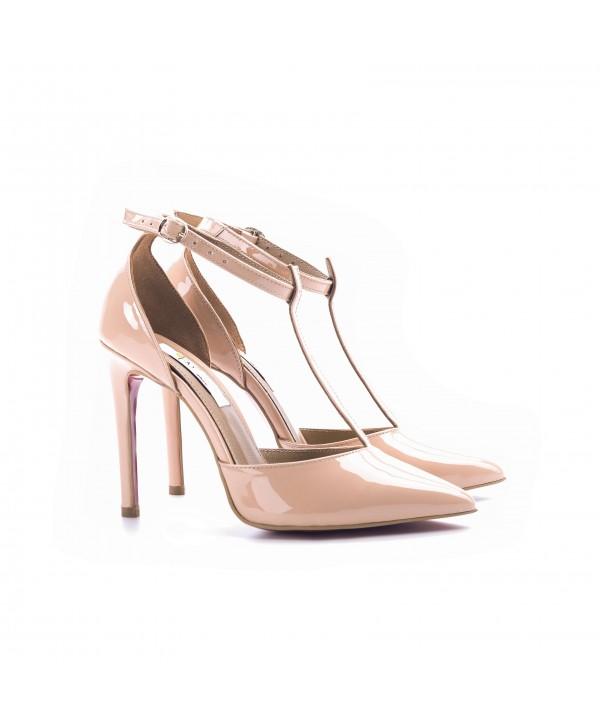Pantofi eleganti crem 3003