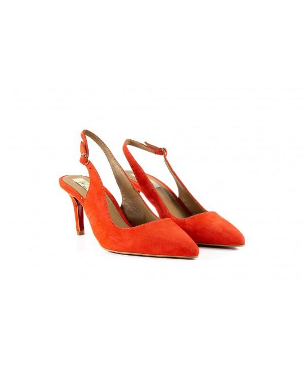 Pantofi tip sandala portocaliu 3012