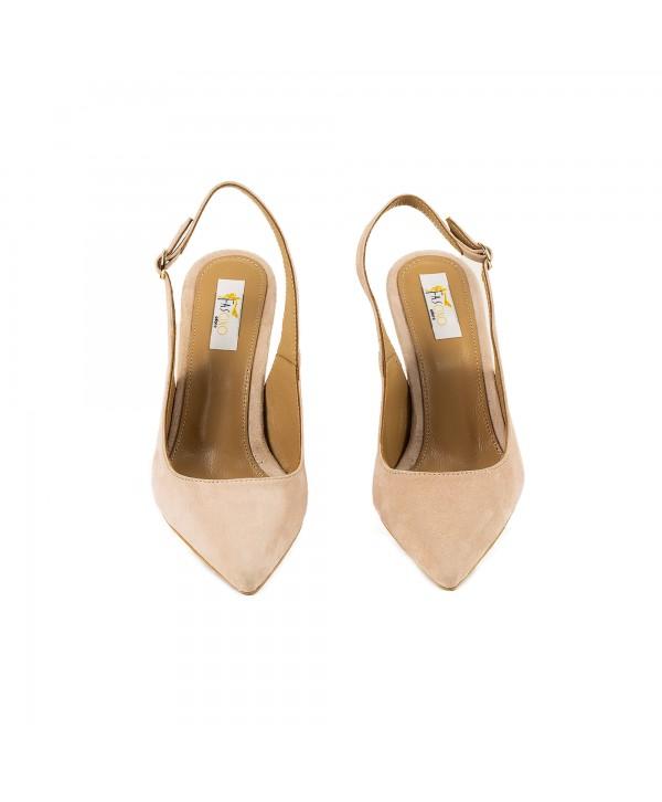 Pantofi tip sandala crem 3012