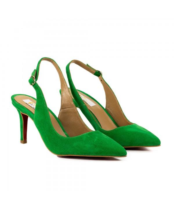 Pantofi tip sandala verzi 3012