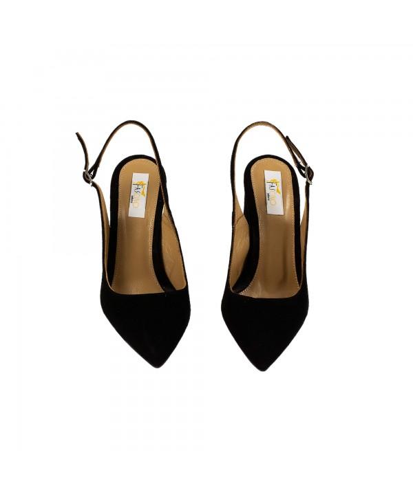 Pantofi tip sandala negri 3012
