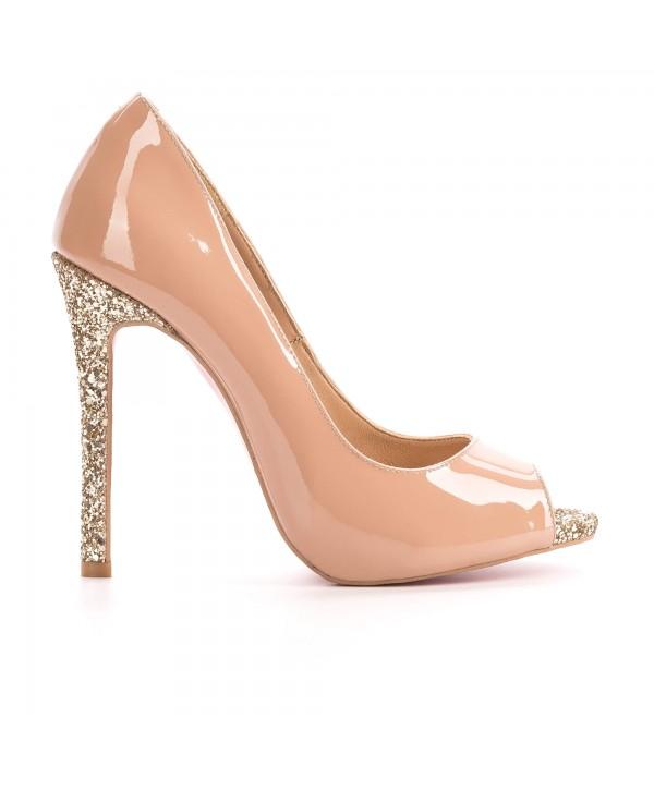 Pantofi eleganti nude 3022