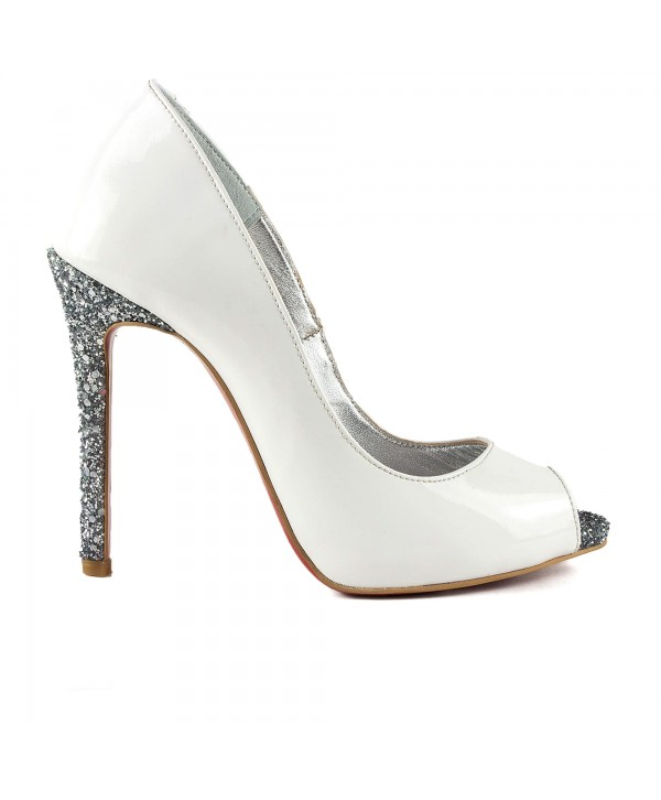 Pantofi eleganti albi 3022