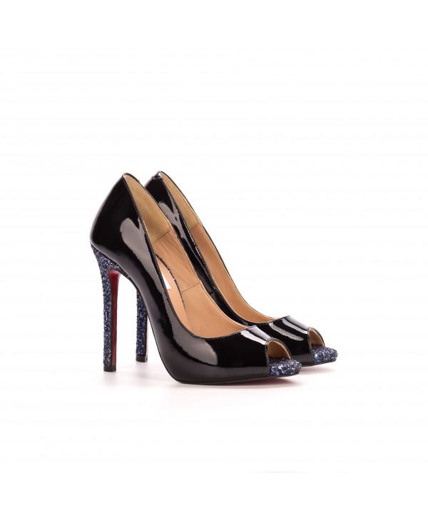 Pantofi eleganti negri 3022