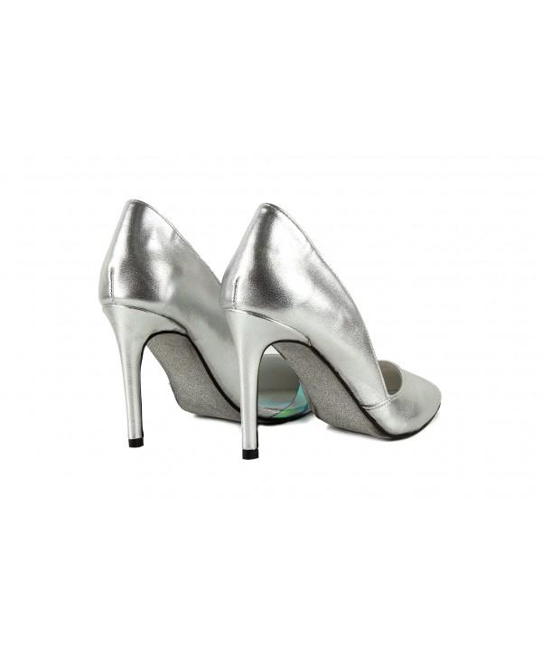 Pantofi eleganti argintii 1718-S