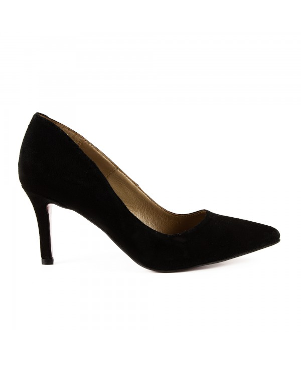 Pantofi eleganti negri camoscio 1721