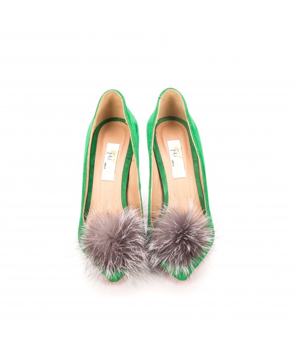 Pantofi eleganti stiletto verzi 1716-P