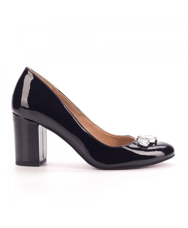 Pantofi eleganti negri 1702-b