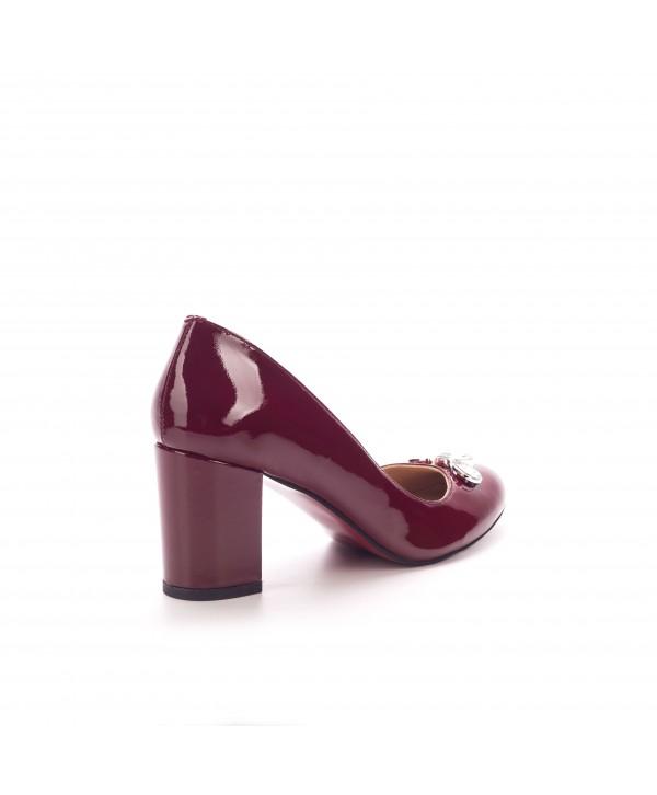 Pantofi eleganti bordeaux 1702-b