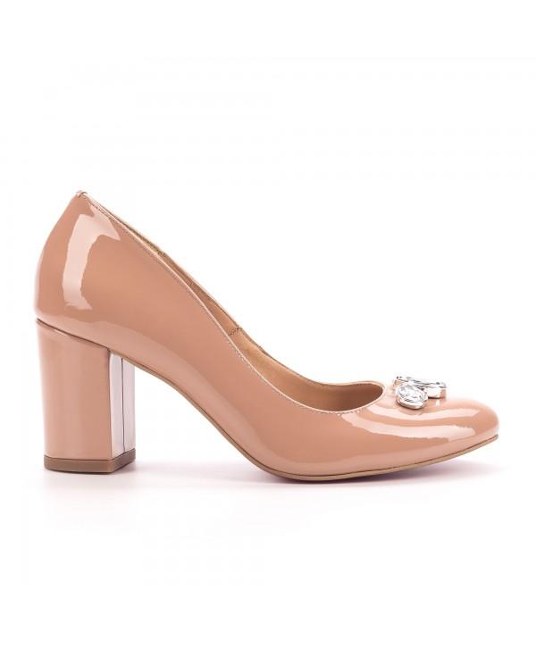 Pantofi eleganti nude  1702-b
