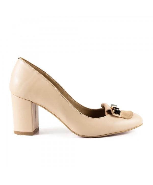 Pantofi eleganti crem 1703