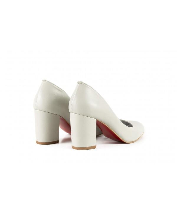 Pantofi eleganti albi 1704