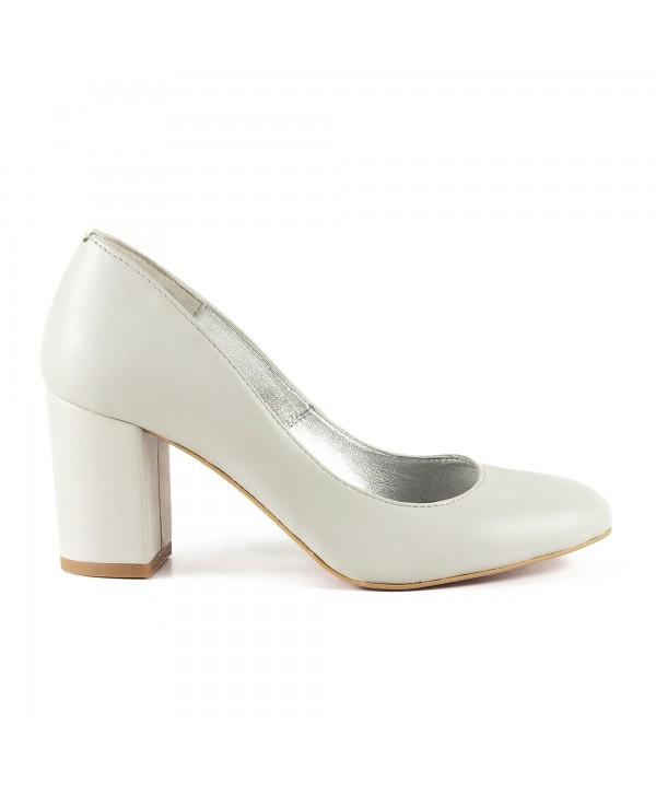 Pantofi eleganti gri deschis 1704