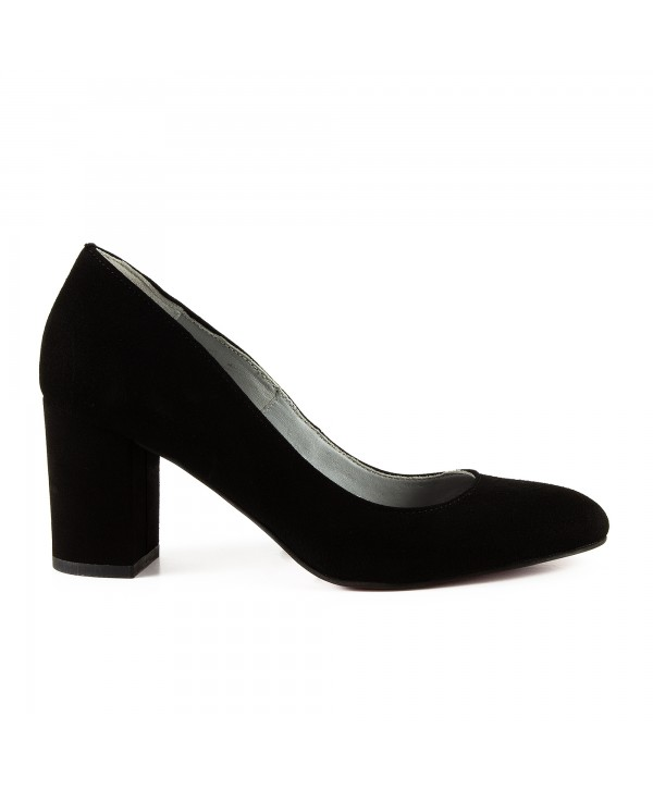 Pantofi eleganti negri camoscio 1704