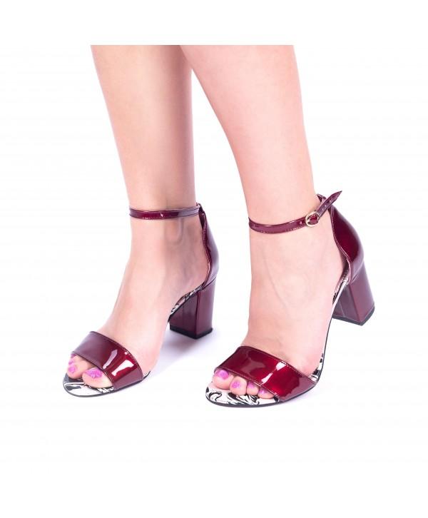 Sandale comode bordeaux 1614b